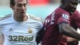 Michu of Swansea in action against Newcastle