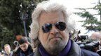 Beppe Grillo on 24 February