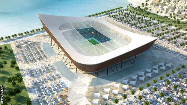 Artists impression of Al-Gharafa stadium