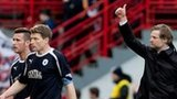 Steven Pressley salutes the Falkirk fans