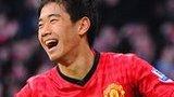 Shinji Kagawa celebrates