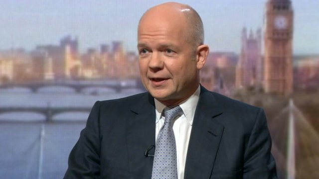 The Foreign Secretary, William Hague