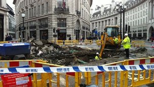 Regent Street repairs on Sunday