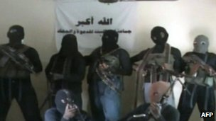 A screen grab from a video allegedly showing Boko Haram members. File photo