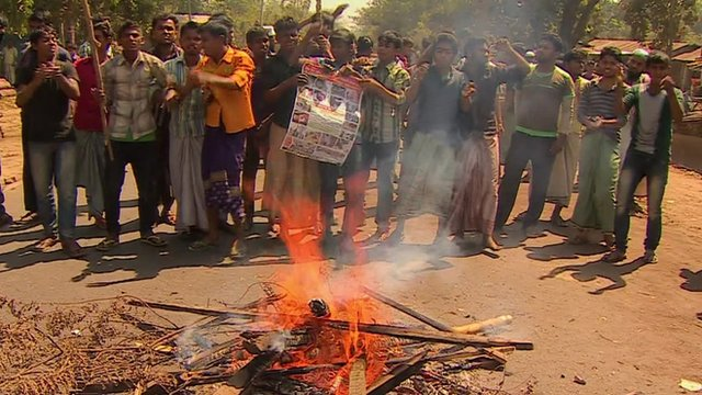 Protesters in Bangladesh