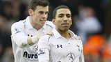 Tottenham goalscorers Gareth Bale (left) and Aaron Lennon