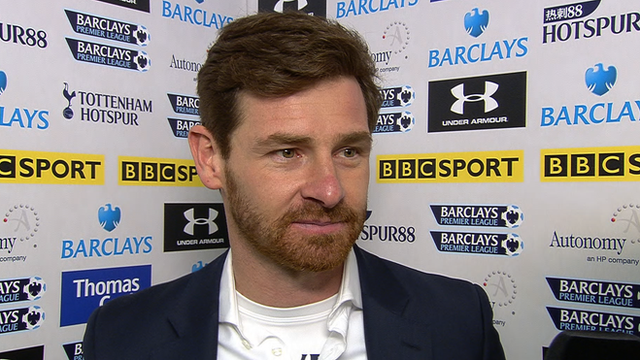 Tottenham manager Andre Villas-Boas after his side&#039;s victory against Arsenal