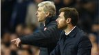 Arsenal boss Arsene Wenger and Spurs boss Andre Villas-Boas
