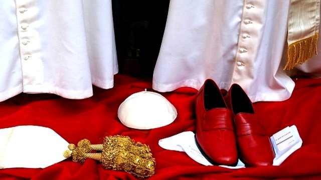 Vestments for new Pope