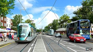 Artist&#039;s impression of Clifton tram
