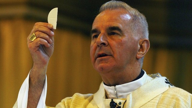 Cardinal Keith O'Brien takes mass at St Mary's Cathedral