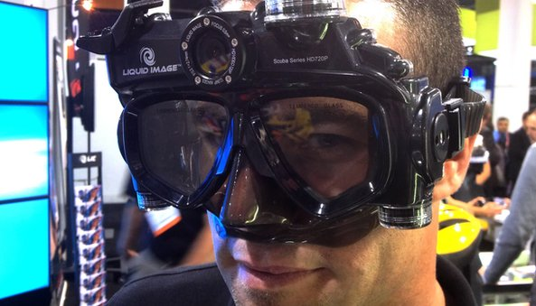 Underwater camera goggles demoed