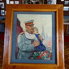 Stalin painting in Gori museum