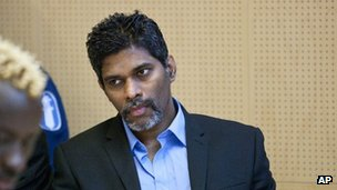 File photo of Singaporean Wilson Raj Perumal as he sits in the Lapland district court on match fixing charges in Rovaniemi, Finland, 9 June 2011