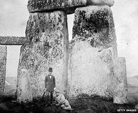 Victorians visiting Stonehenge