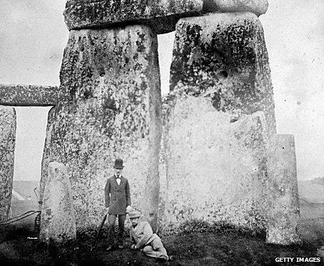Victorians visiting Stonehenge