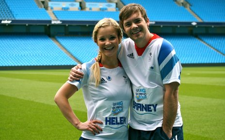 Helen Skelton and Barney Harwood