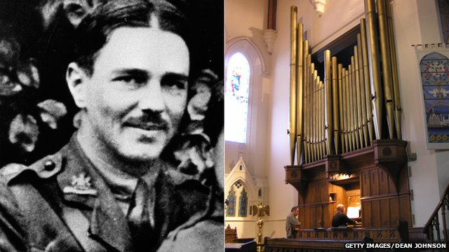 Wilfred Owen and the organ at Christ Church in Oxton