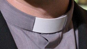 Vicar's clerical collar