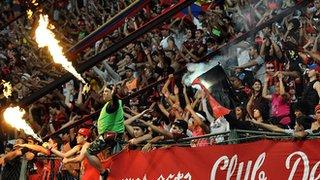 Fans of Venezuelan Deportivo Lara