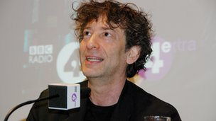 Neil Gaiman at the Neverworld premiere