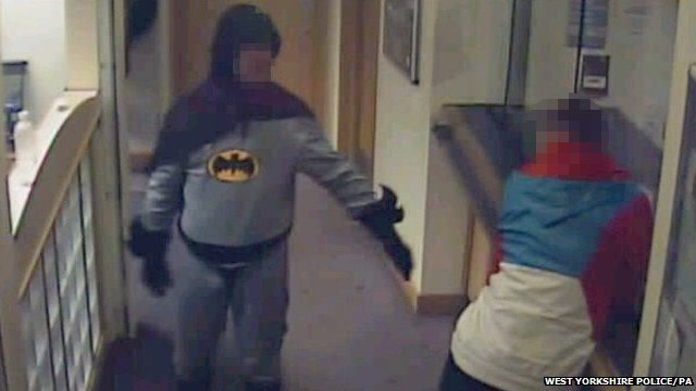 Batman and suspect