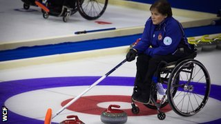 Scotland wheelchair curling skip Aileen Neilson