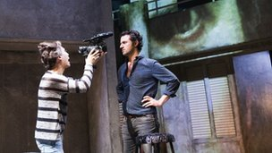 Francis Jue and Tom Berish in Paper Dolls, Tricycle Theatre