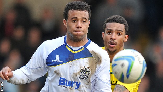 Bury midfielder Tom Soares