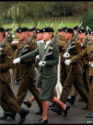 British army unit marching