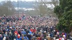 Thousands of spectators and players in Ashbourne