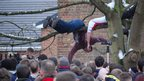 People climb trees to get a good look