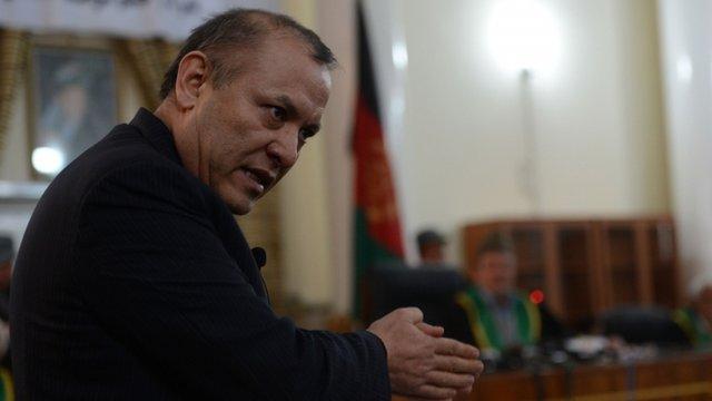 Former Chairman of Afghanistan's Kabul Bank, Sher Khan Farnoud
