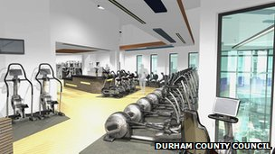 Inside the planned Consett Leisure Centre