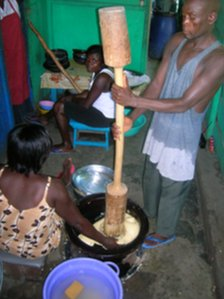 Making fufu (Archive shot)