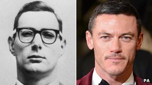 Great Train Robber Bruce Reynolds and Luke Evans, the actor who plays him