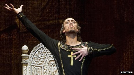 Russian dancer Pavel Dmitrichenko, as Ivan the Terrible (file image from 2012)