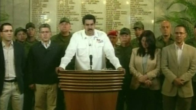 Nicolas Maduro makes announcement