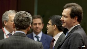George Osborne meets other European finance ministers