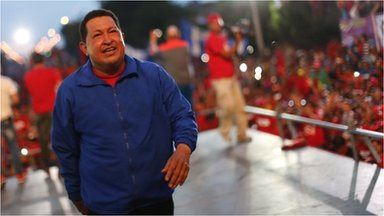 Hugo Chavez on the campaign trail in Barquisimeto on 2 October  2012