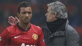Jose Mourinho with Nani