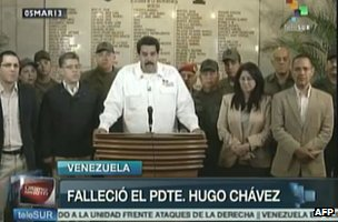 Vice-President Nicolas Maduro addresses the nation (5 March 2013)