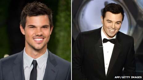 Taylor Lautner and Seth MacFarlane