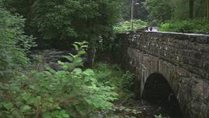 Bridge near Pullman's home in Llanbedr