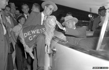 President Harry S. Truman on the campaign trail in Texas, 1948 (Jimmie A. Dodd Photograph Collection Dolph Briscoe Center for American History The University of Texas at Austin)