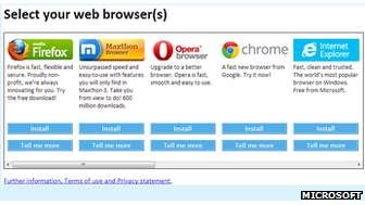 Web browser choice