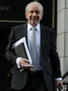 Lord Sugar leaving tribunal