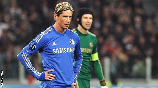 Fernando Torres and Petr Cech