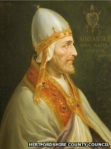 Portait of Adrian IV