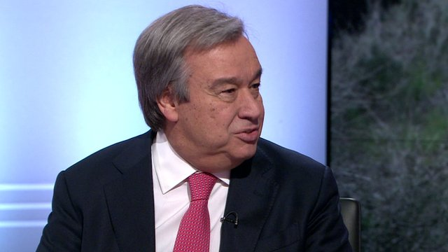 Antonio Guterres, the UN High Commissioner for Refugees
